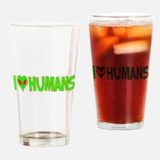 I Love-Alien Humans Pint Glass