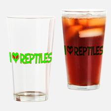 I Love-Alien Reptiles Pint Glass