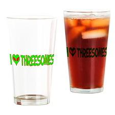 I Love-Alien Threesomes Pint Glass