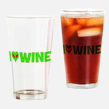 I Love-Alien Wine Pint Glass