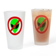 No More Aliens Pint Glass