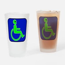 Handicapped Alien Pint Glass