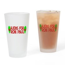 Aliens For Ron Paul Pint Glass