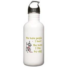 The More People I Meet (Dog) Water Bottle