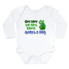 Give Love (Dog) Long Sleeve Infant Bodysuit