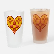 New Mexico Zia Heart Pint Glass