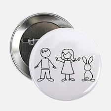 """1 bunny family 2.25"""" Button"""