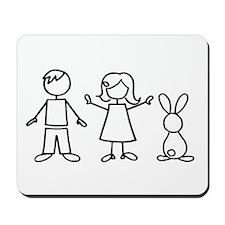 1 bunny family Mousepad