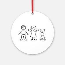 1 bunny family Ornament (Round)
