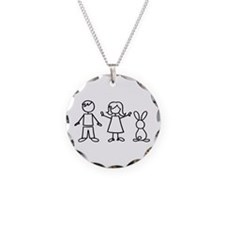 1 bunny family Necklace