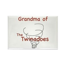 Grandma of Twinadoes Rectangle Magnet