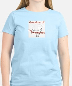 Grandma of Twinadoes Women's Pink T-Shirt