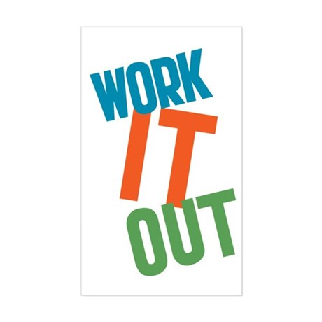 Work It Out Sticker (Rectangle)