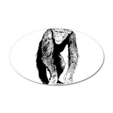 Chimp 22x14 Oval Wall Peel