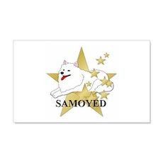 Samoyed Stars 22x14 Wall Peel