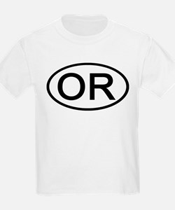 OR - Initial Oval Kids T-Shirt