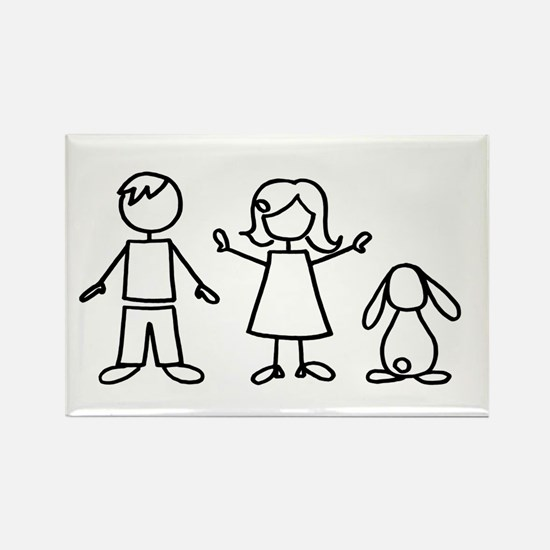 1 bunny family lop Rectangle Magnet