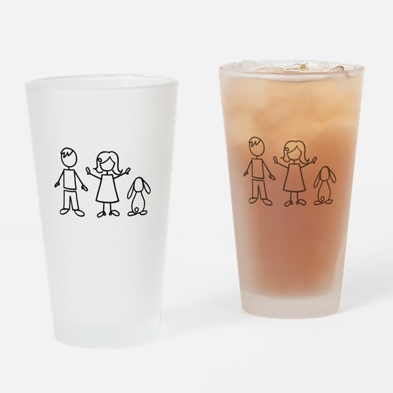 1 bunny family lop Pint Glass