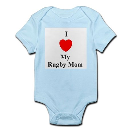 I Love My Rugby Mom Infant Creeper