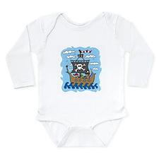 Pirate Ship Long Sleeve Infant Bodysuit