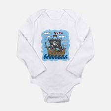 Pirate Ship Long Sleeve Infant Bodysuit