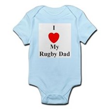 I Love My Rugby Dad Infant Creeper