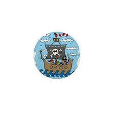 Pirate Ship Mini Button (10 pack)