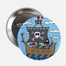 "Pirate Ship 2.25"" Button (10 pack)"