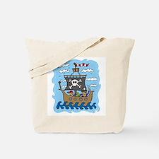 Pirate Ship Tote Bag