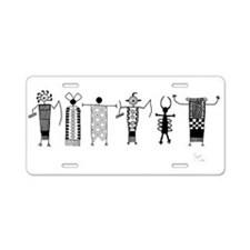 Group of Petroglyph Peoples Aluminum License Plate