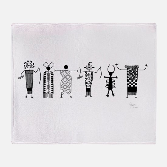 Group of Petroglyph Peoples Throw Blanket