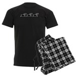 Hopi Mountain Sheep Glyph Men's Dark Pajamas