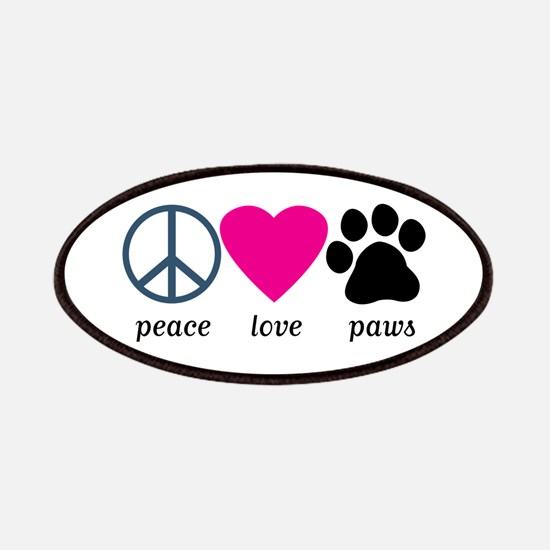 Peace Love Paws Patches