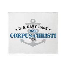 US Navy Corpus Christi Base Throw Blanket