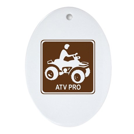 ATV Pro Ornament (Oval)