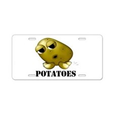 Potato Head with Toes Aluminum License Plate
