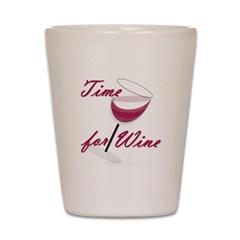 Time for Wine Shot Glass
