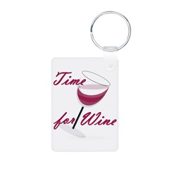 Time for Wine Keychains