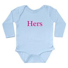 Hers Long Sleeve Infant Bodysuit