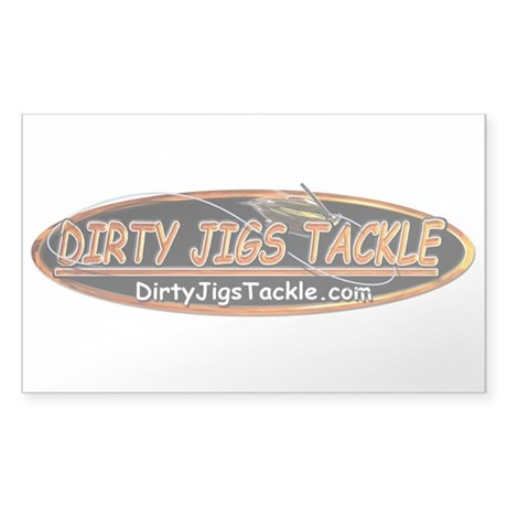 "5"" Dirty Jigs Tackle Sticker"