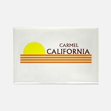 Cute Carmel beach Rectangle Magnet