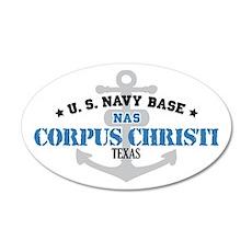 US Navy Corpus Christi Base 22x14 Oval Wall Peel