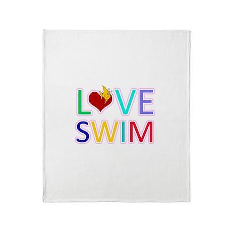LOVE SWIM Throw Blanket