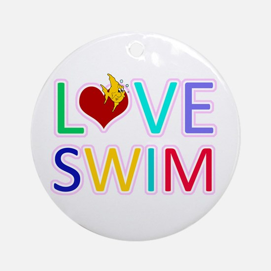 LOVE SWIM Ornament (Round)