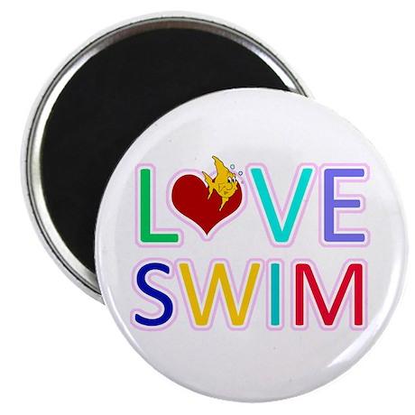 "LOVE SWIM 2.25"" Magnet (100 pack)"