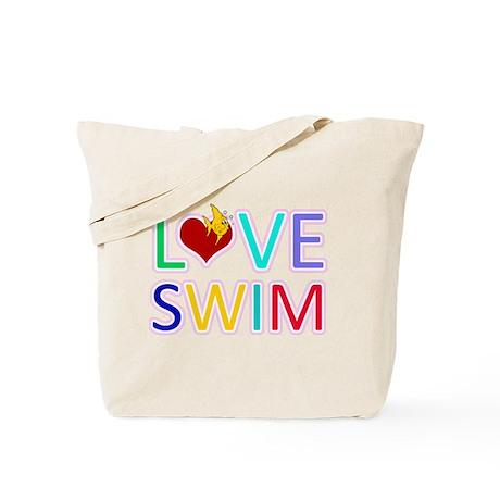 LOVE SWIM Tote Bag