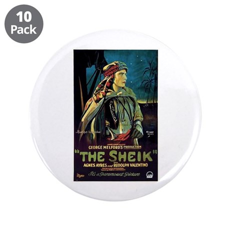 """The Sheik 3.5"""" Button (10 pack)"""