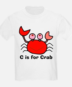 C is for Crab! Kids T-Shirt