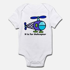 H is for Helicopter! Infant Creeper