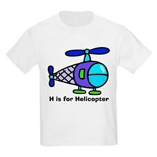 H is for Helicopter! Kids T-Shirt